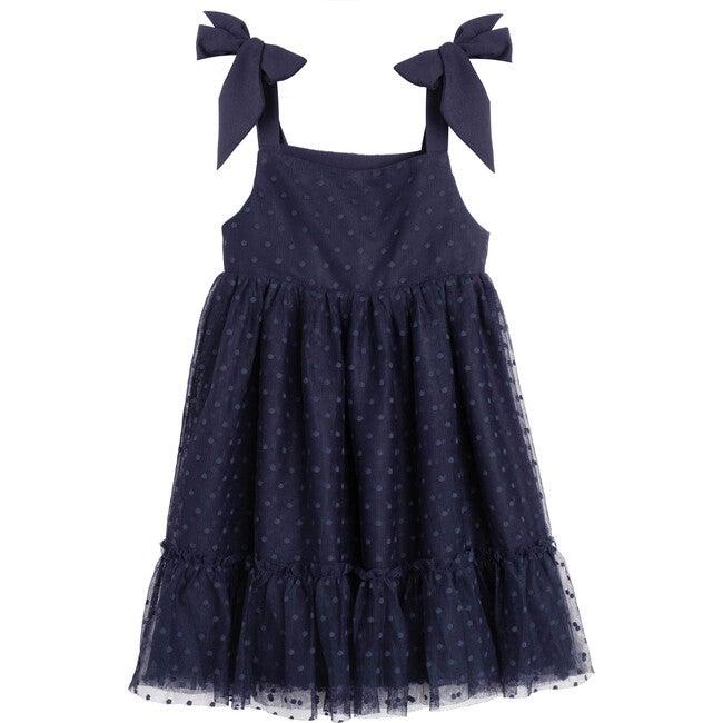 Anja Tulle Dress, Navy - Dresses - 1
