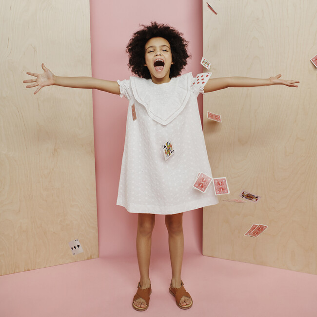 Camille Dress, White Daisy Eyelet