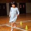 Miya Ribbed Dress, Blue & Yellow Stripe - Dresses - 2