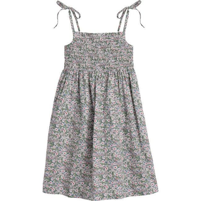 Rosie Smocked Dress, Blue Floral