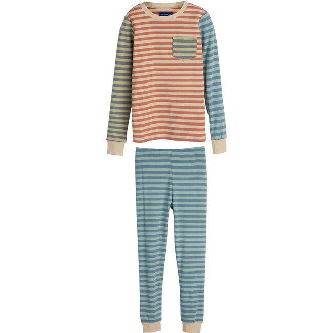 Taylor Long Sleeve Pajama Set, Blue Multi