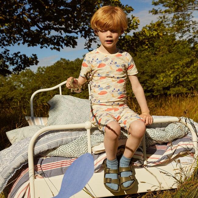 Emerson Short Sleeve Pajama Set, Kissing Fish