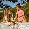 Emerson Short Sleeve Pajama Set, Coral Multi Stripe - Pajamas - 6