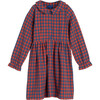 Emma Collared Dress, Red & Blue Check - Dresses - 1 - thumbnail