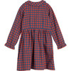Emma Collared Dress, Red & Blue Check - Dresses - 3