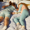 Taylor Long Sleeve Pajama Set, Blue Multi - Pajamas - 6