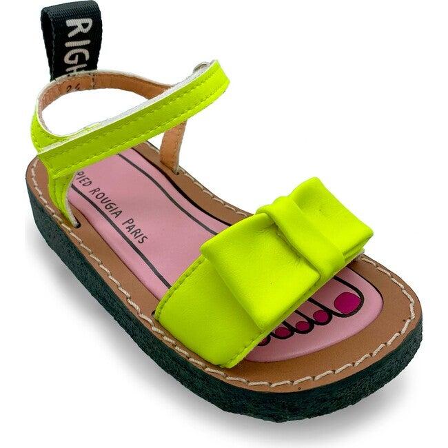 *Exclusive* Bow Bow Sandal, Lemonade Yellow - Sandals - 1