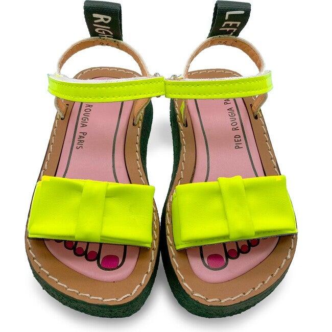 *Exclusive* Bow Bow Sandal, Lemonade Yellow