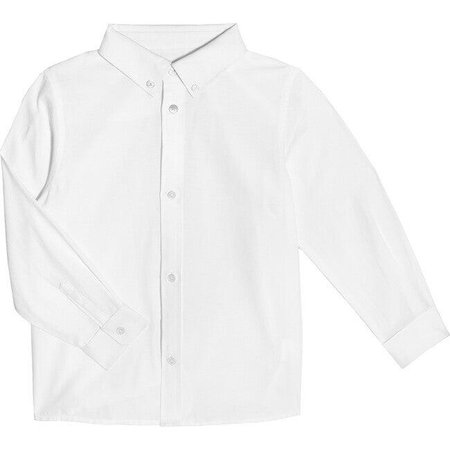 Lucas Long Sleeve Button Down Shirt, White - Shirts - 1
