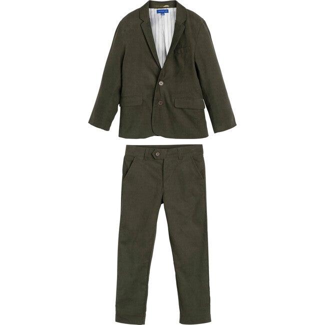 Adam Cord Suit, Evergreen