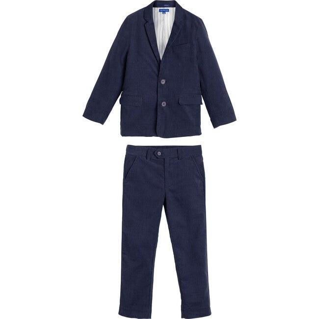 Adam Cord Suit, Navy