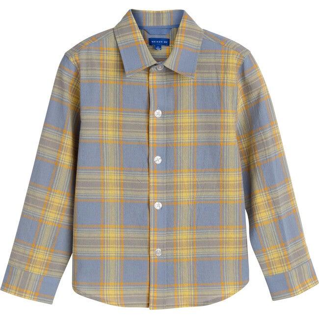 Max Button Down, Blue Yellow Check