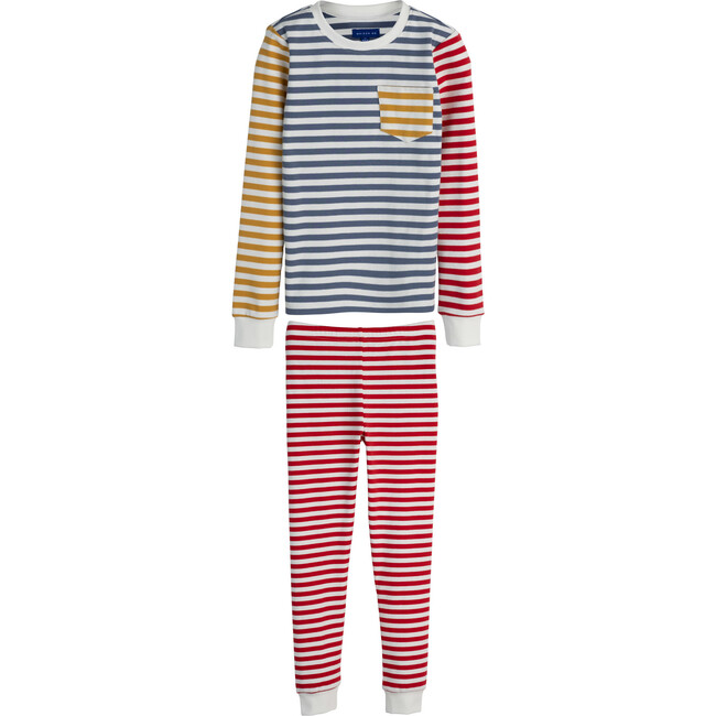 Taylor Long Sleeve Pajama Set, Red Multi
