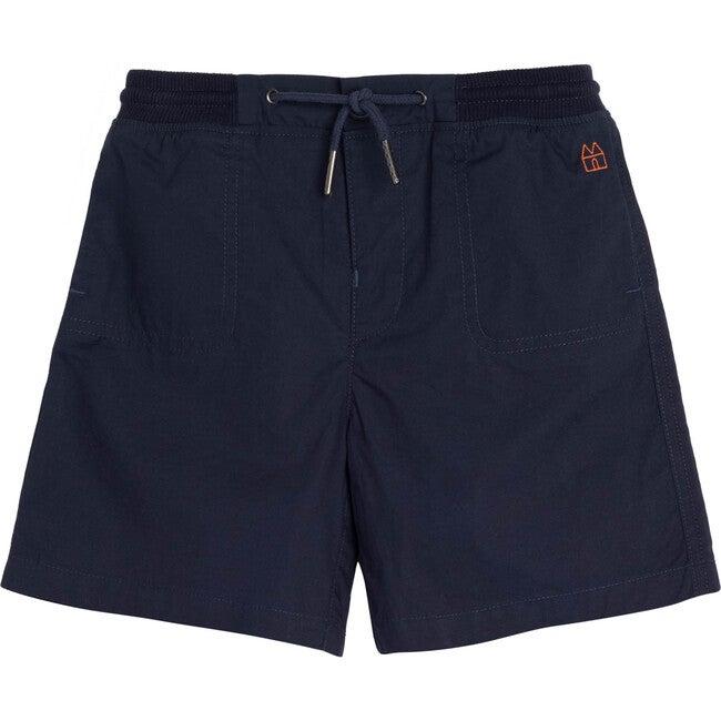 Davis Drawstring Short, Navy - Shorts - 1