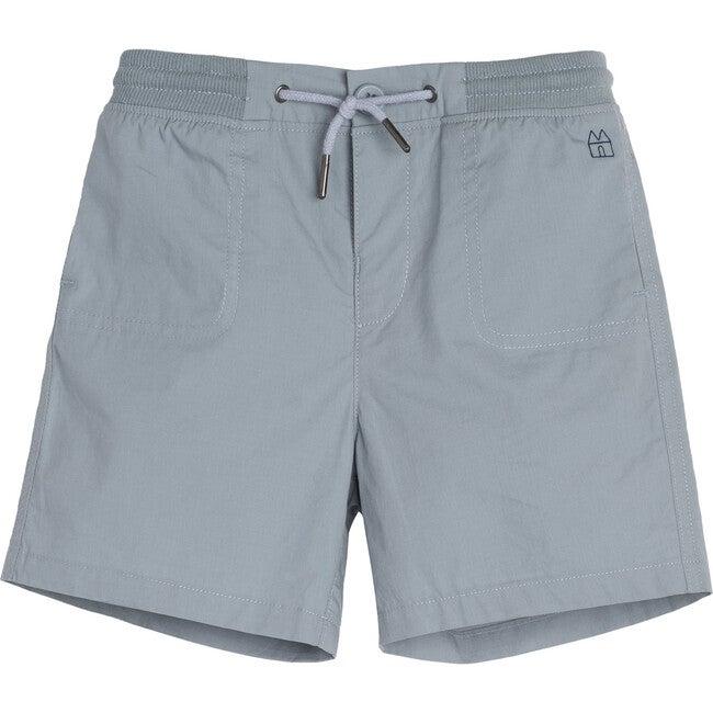 Davis Drawstring Short, Dusty Blue - Shorts - 1