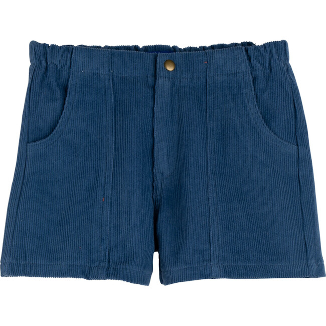Retro Cord Short, New Blue - Shorts - 1