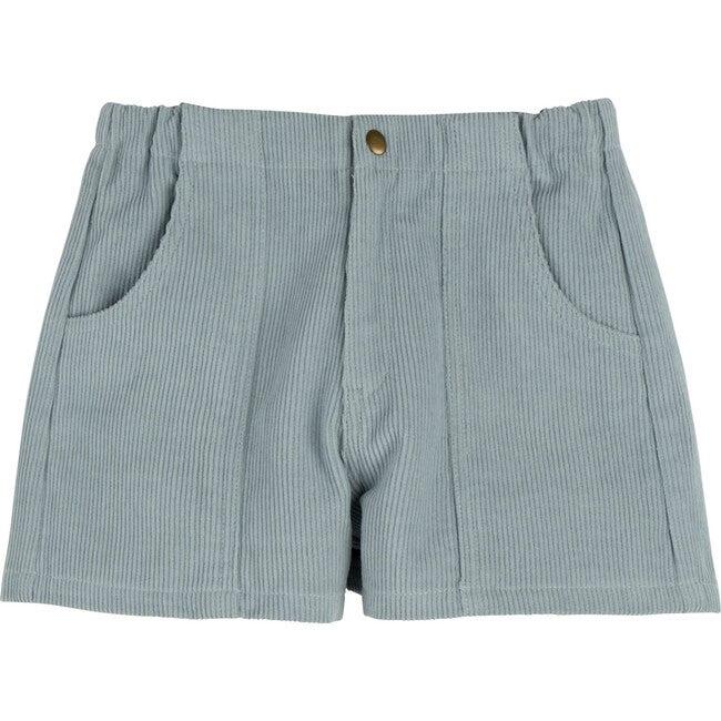 Retro Cord Short, Powder Blue - Shorts - 1