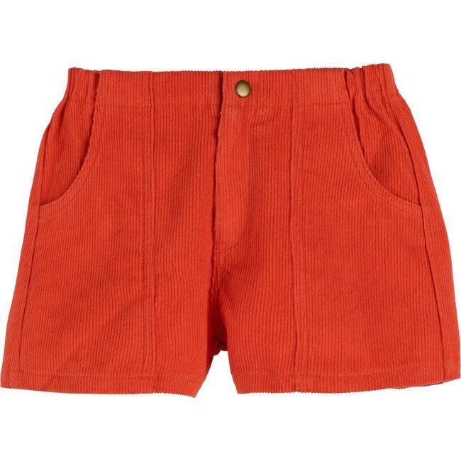 Retro Cord Short, Coral - Shorts - 1