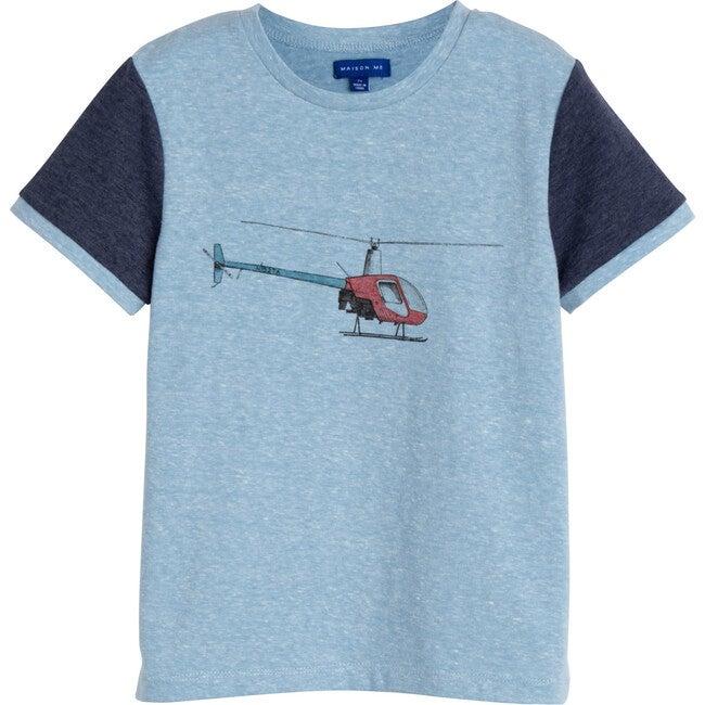 Ezra Graphic Tee, Helicopter - Tees - 1