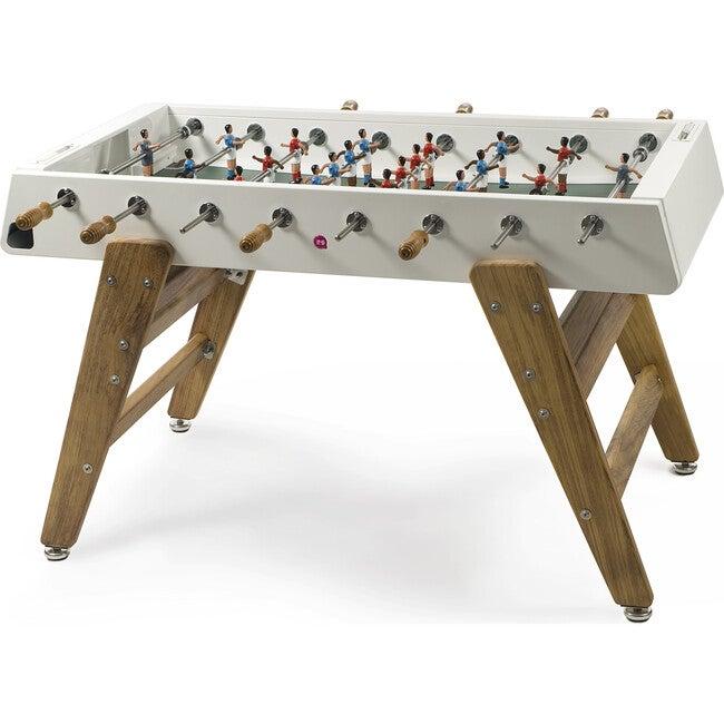 RS #3 Indoor/Outdoor Foosball Table, White/Wood - Foosball Tables - 1