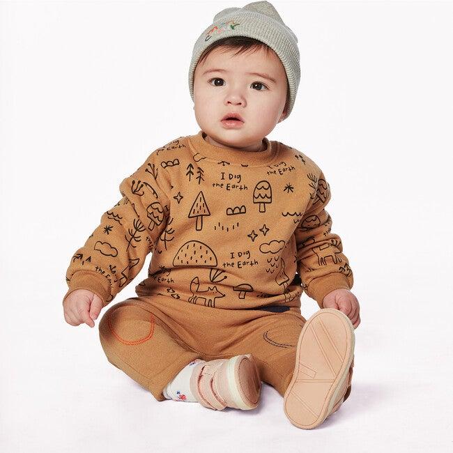 I Dig the Earth Baby Sweatshirt, Tan