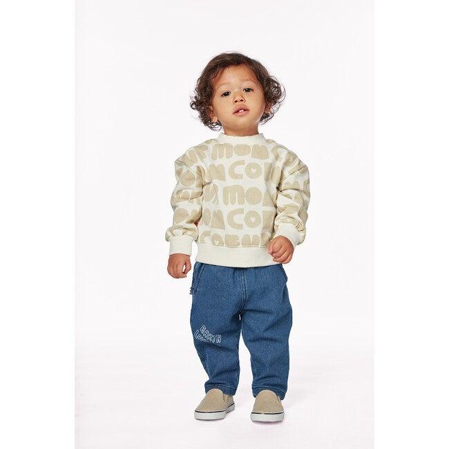 Mon Coeur All-Over Baby Sweatshirt, Beige