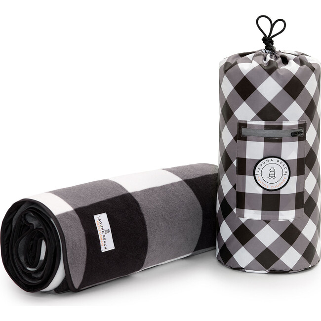Picnic Blanket, Black Gingham