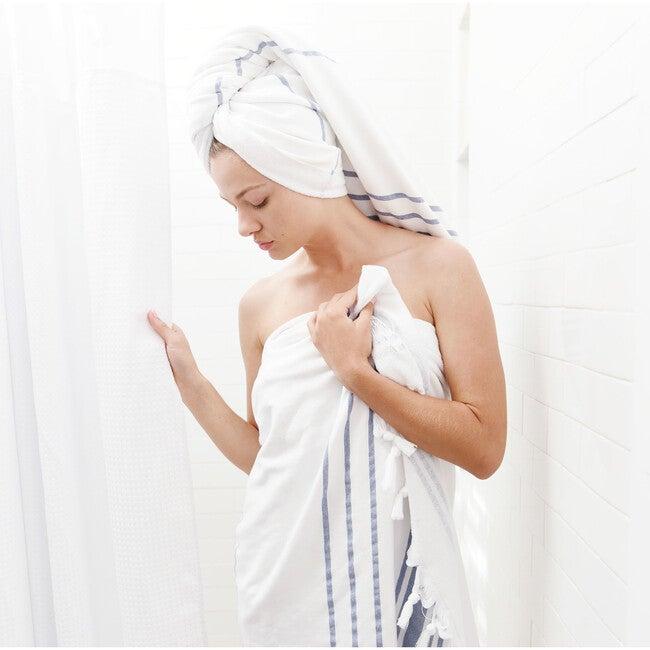 Turkish Towel, White Azul