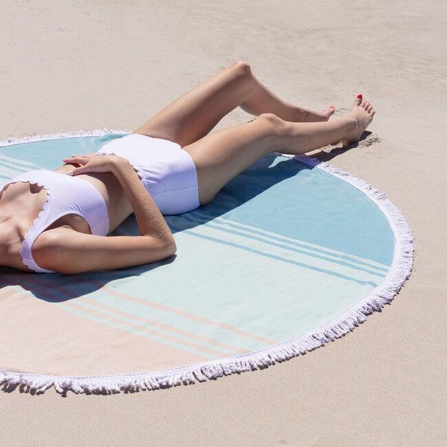 Round Beach Towel, Sea Glass Sunrise