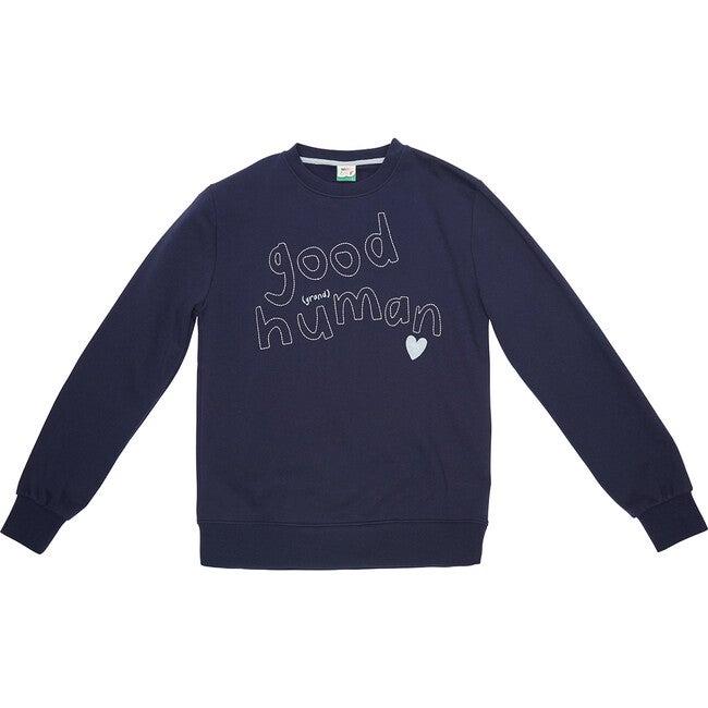 Adult Good Grand Human Sweatshirt, Navy