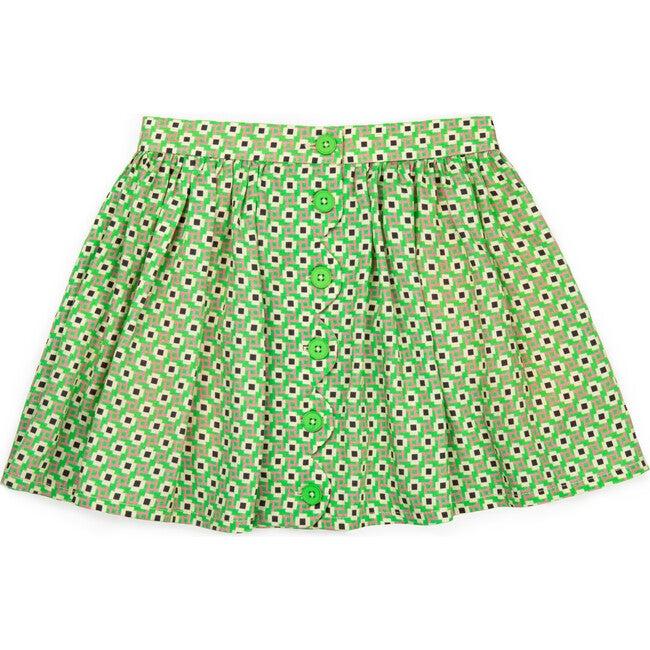 Lily Skirt, Green Confetti - Skirts - 1