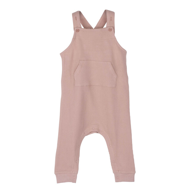 Neal Waffle Overall, Dusty Pink