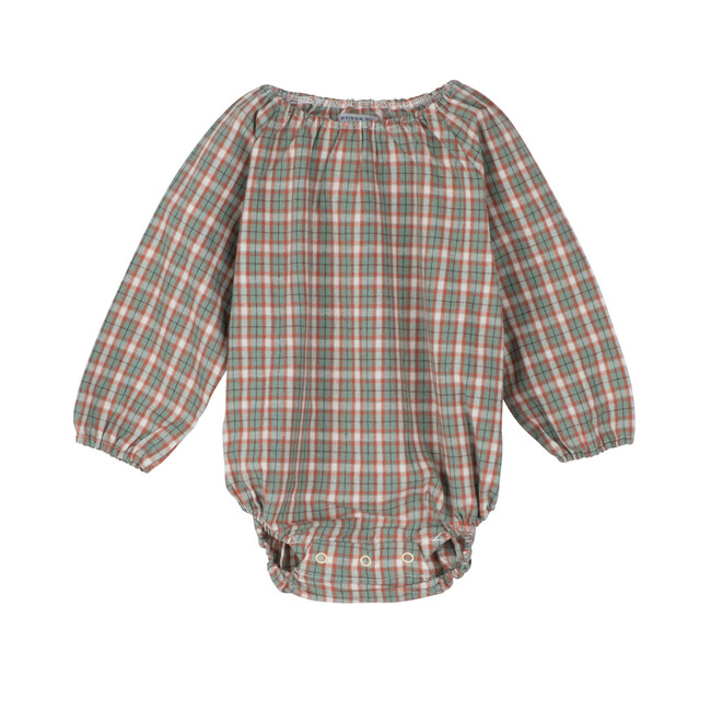 Leila Long Sleeve Bubble, Green & Red Check