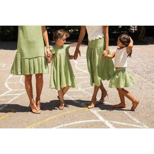 Lily Skirt, Green Confetti