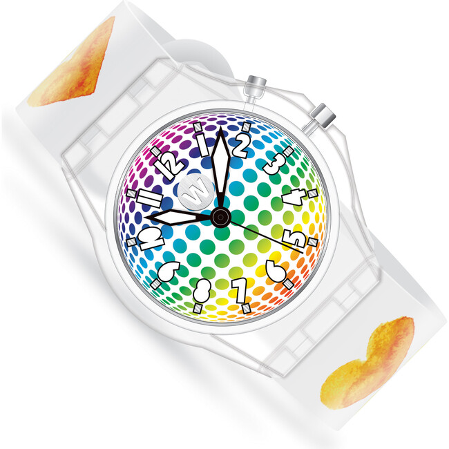 Watercolor Hearts Light Up Watch