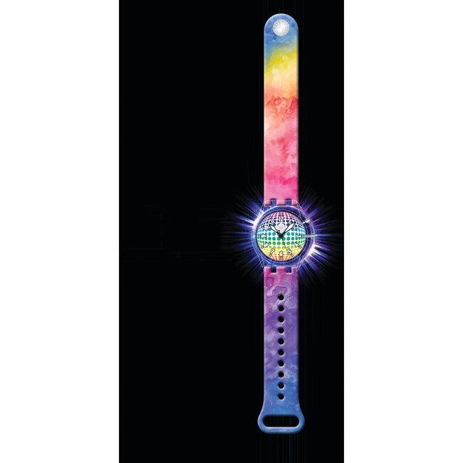 Rainbow Tie Dye Light Up Watch