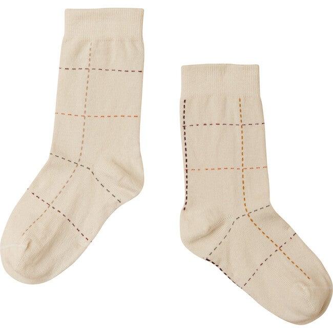 Windowpane Socks, Off White