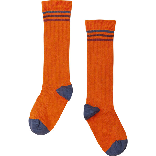Striped Socks, Burnt Orange