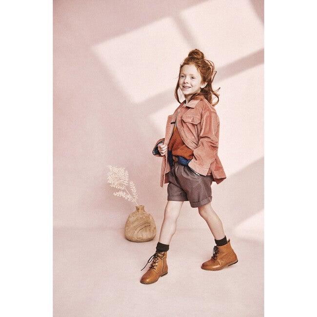 Paperbag Waist Shorts, Peppercorn