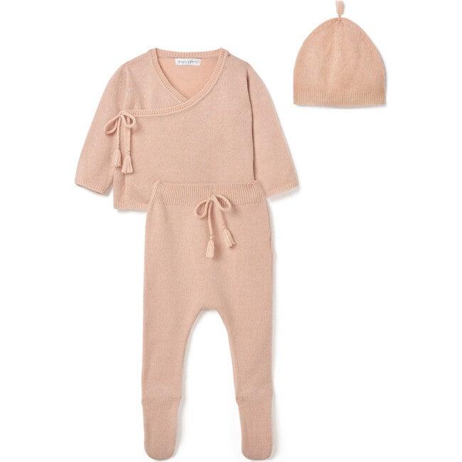 Wrap Top Leggings and Tassel Hat Set, Peach - Mixed Apparel Set - 1