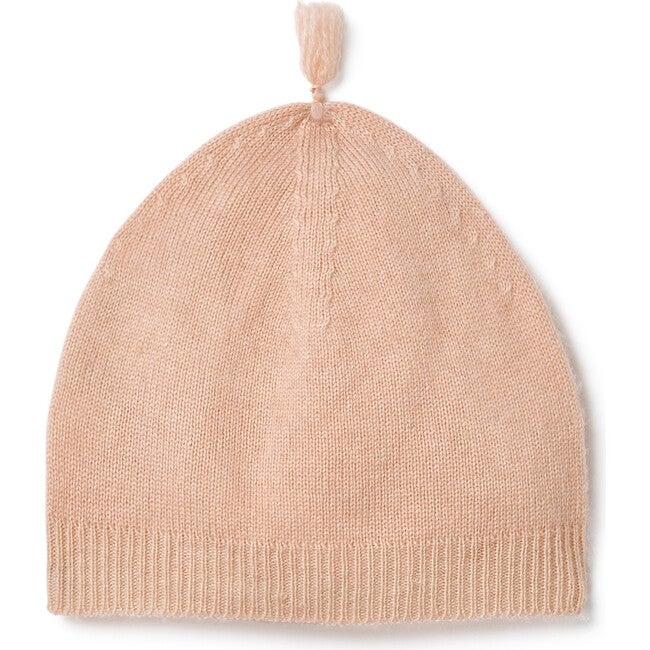 Wrap Top Leggings and Tassel Hat Set, Peach