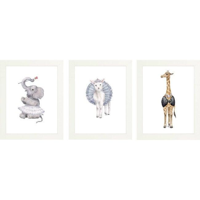 Set of 3 Fancy Animals Prints, Tiaras - Art - 1
