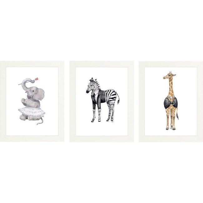 Set of 3 Fancy Animals Prints, Tutus & Tuxes - Art - 1