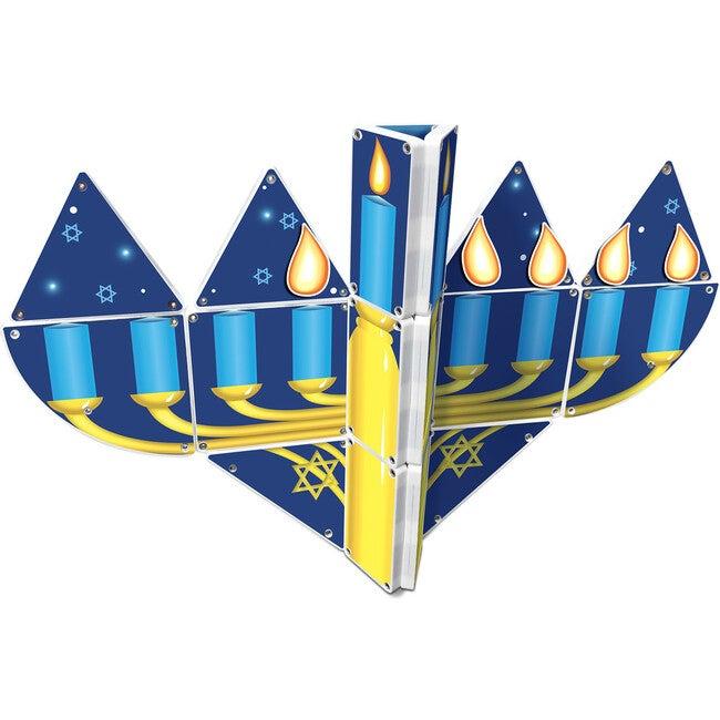 Hanukkah Menorah Magna-Tiles Structure Set