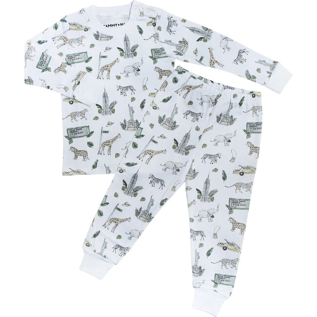 Safari in New York Two Piece Pajama