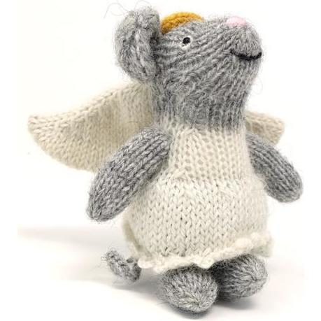 Angel Mouse Holiday Ornament, Grey