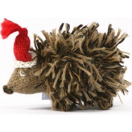 Holiday Hedgehog Ornament, Brown