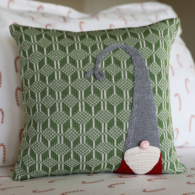 Gnome Pillow, Green
