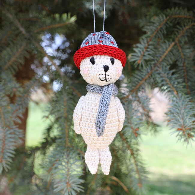 Seal Holiday Ornament, White