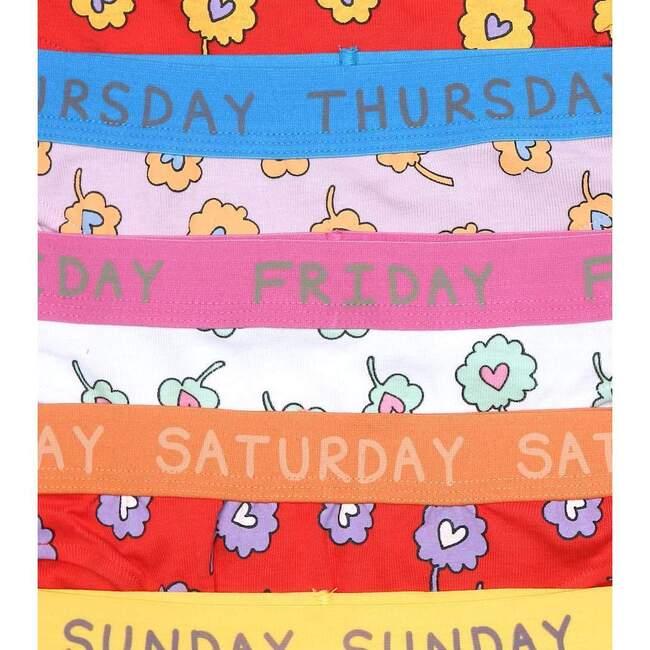 Disty Flowers Brief Week Set, Multicolor